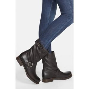 Frye Veronica Short Slouchy Boot NWT in Black